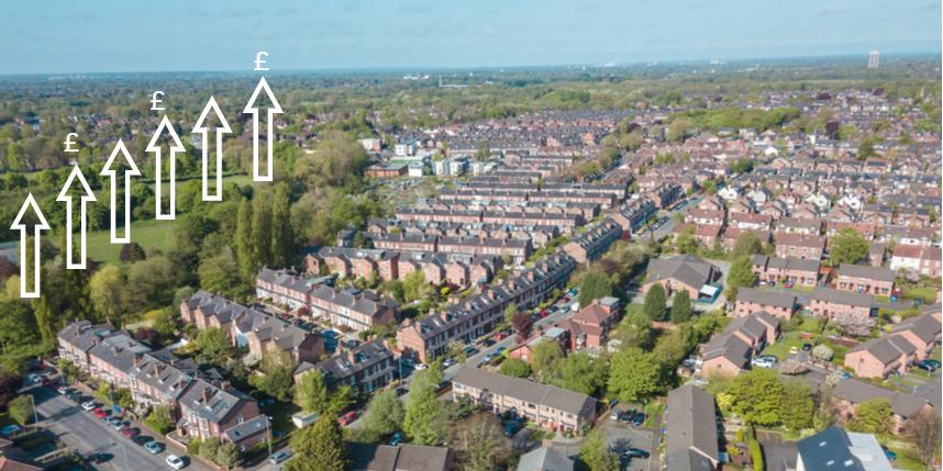 House price gains in the month of April